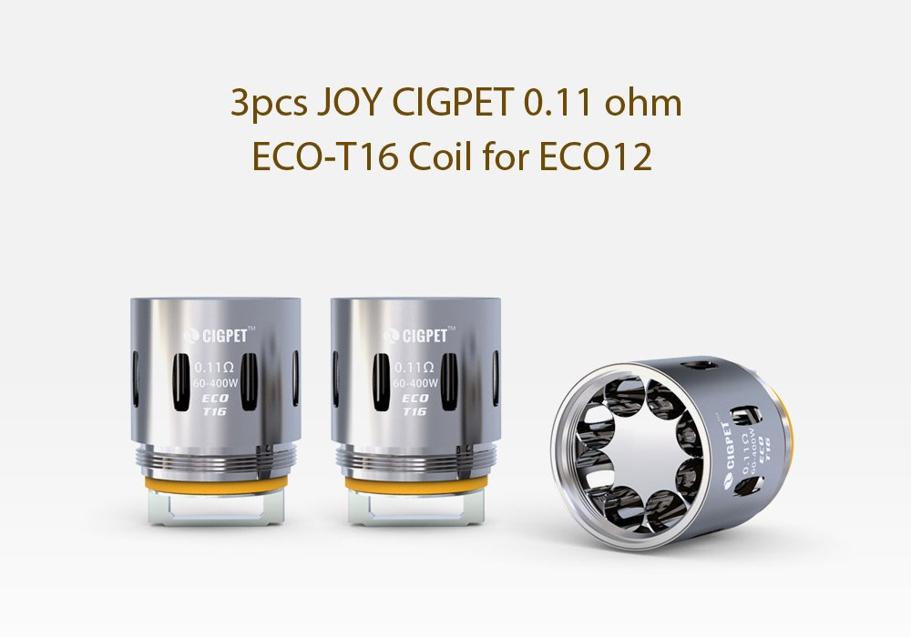 CIGPET ECO Coil for ECO12 3-PK T16 0.11ohm