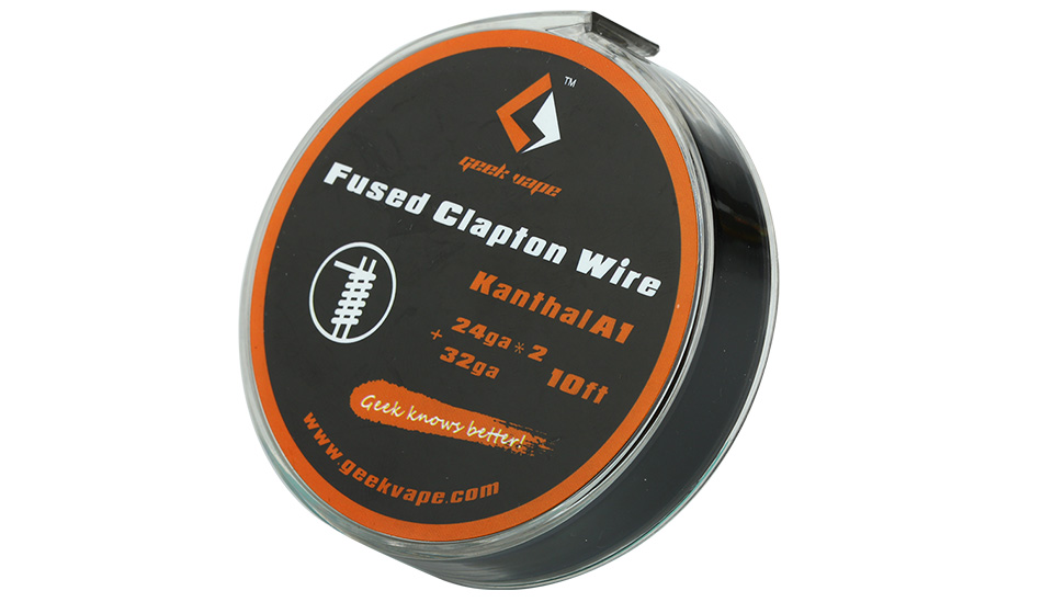 GeekVape Kanthal A1 Fused Clapton Wire (24GAx2+32GA) 10ft