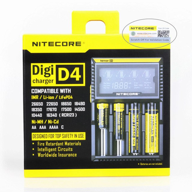 Nitecore Digcharger D4 LCD Charger