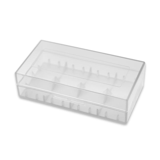 Plastic Storage Case for 18650 Battery Clear