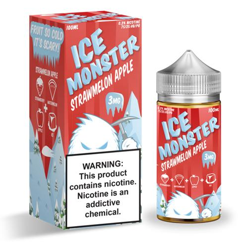 Strawmelon Apple Ice Monster (100ml) 3mg