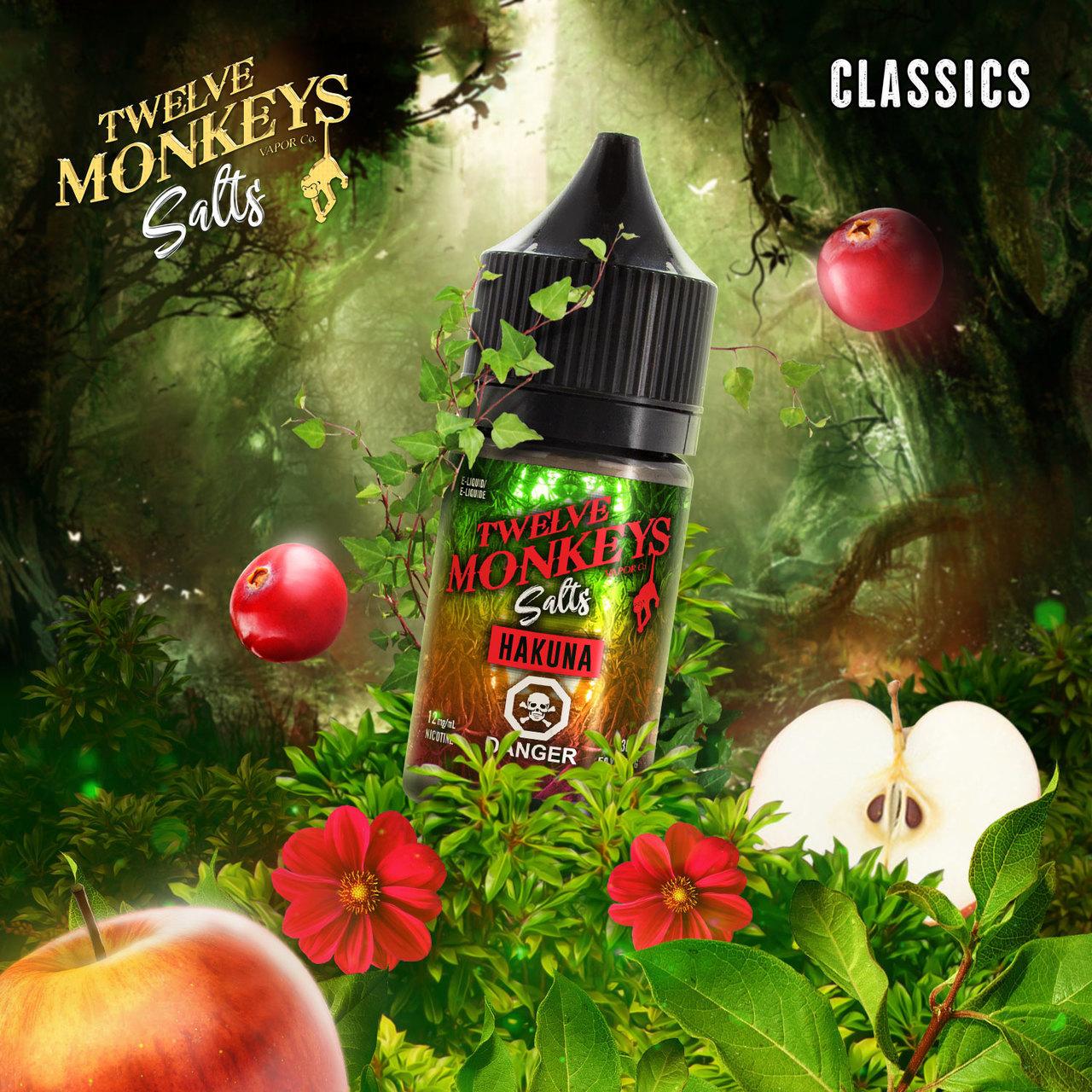 Twelve Monkeys Salts- Hakuna (30mL) 12mg