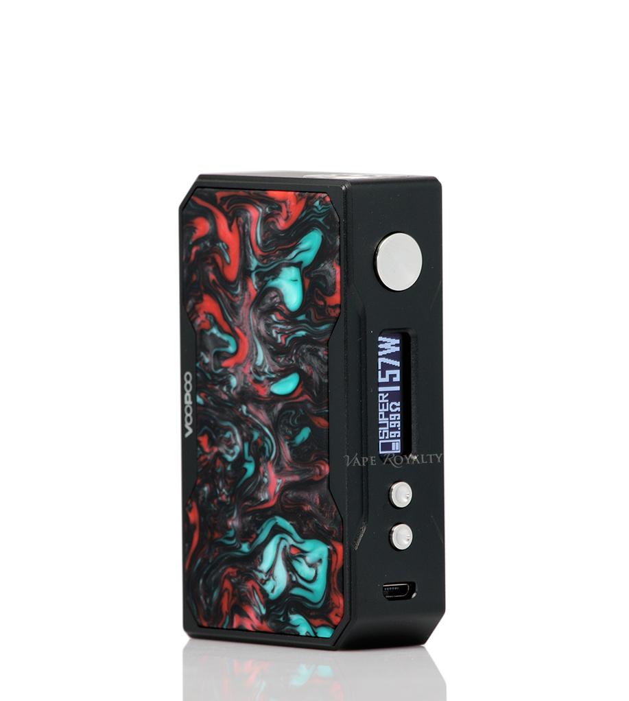 Voopoo Drag 157W Mod Black _ Resin Purple Jade