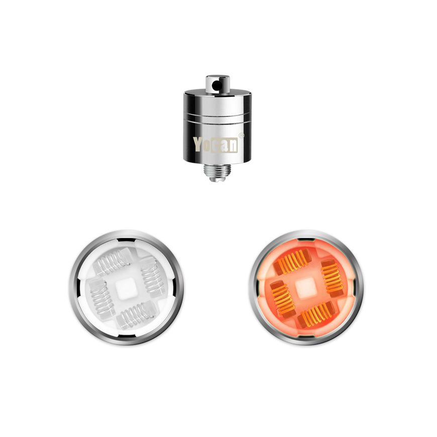Yocan Evolve Plus _XL_ Replacement Quartz Quad Coil 5-PK